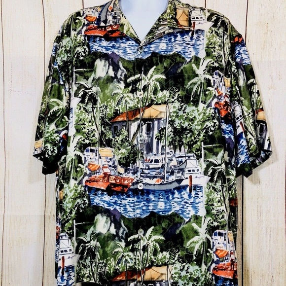 e4f7a2e2d Reyn Spooner Shirts | Guy Buffet Mens Silk Hawaiian Short Sleeve Sz ...